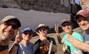 Oakland Uptown Rotary Members Paint a Wall for Mural Project